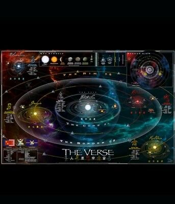 QMX Firefly Serenity Official Map Of The Verse RPG Art Print Poster Folded NEW