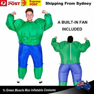 Adult Inflatable The Hulk Mascot Costume Hero Suit Fancy Dress Costume Party Out