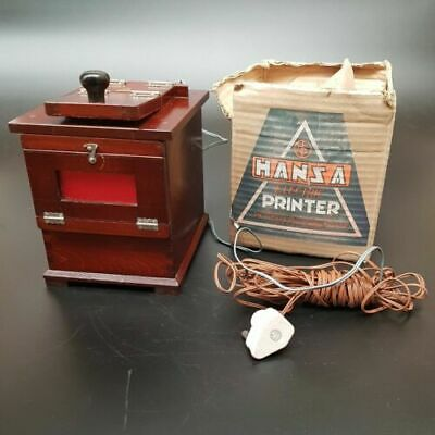 Vintage HANSA Electric Printer - The OMIYA Photo Supply Co - Japan - Photography