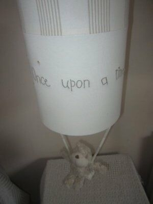 MAMAS AND PAPAS nursery lightshade with crumble bear ONCE UPON A TIME light