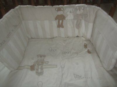 MAMAS AND PAPAS nursery cot cotbed BUMPER crumble ONCE UPON A TIME euc