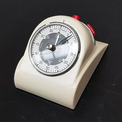 Vintage SMITHS JOHNSON Bakelite Darkroom Electric Timer - Cream Coloured