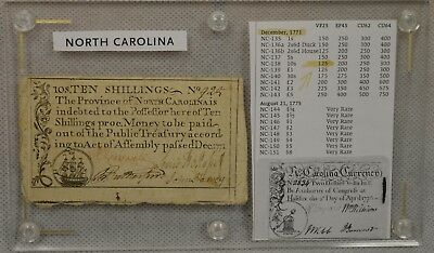 North Carolina 1771 Ten Shillings 10s, NC-138, December, 1771 Colonial Currency