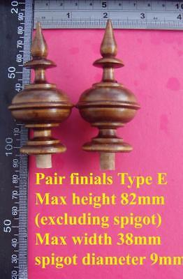 da type E - bespoke listing for 3 off stained wood vienna  wall clock FINIALS