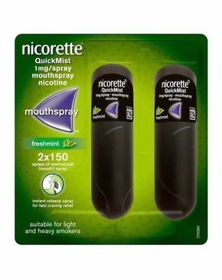 Nicorette Quickmist 1mg Duo 2x150 spray NEW CHEAPEST ONLINE FREE UK PP WEEK SALE