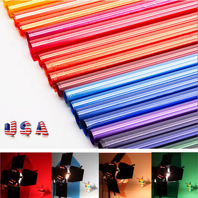 "US Colors Lighting Filter Gel Sheets 16x20"" 40x50cm For Photo Camera Studio Lamp"