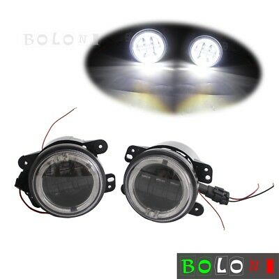 "2pcs Auto Car 30W 4"" inch LED Fog Light DRL For Dodge Journey 2009-2013 Black"