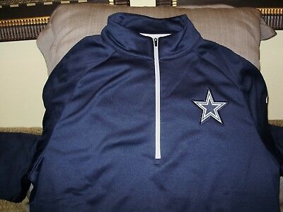 7545080efbc NFL Dallas Cowboys Nike Dri-Fit Therma Circuit 1/2 Zip Golf Jacket Men's