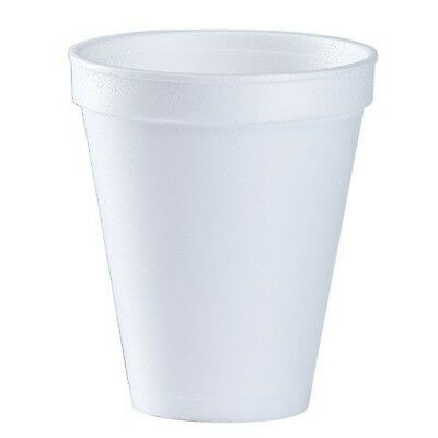 12 Oz. White Disposable Drink Foam Cups Hot and Cold Coffee Cup (Pack of 48)