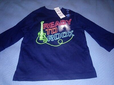 The Children's Place Boys Baby Toddler Long Sleeve Top Shirt 12months Blue New