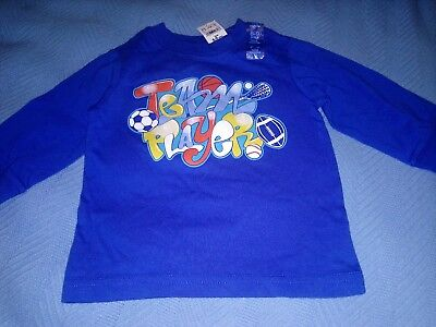 The Children/'s Place Boys Thermal Shirt Baby 6-9m Graphic Blue 50/% Off NWT New