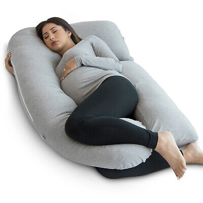 U-Shaped Full Body Pregnancy Pillow and Holiday Gift Travel Bag by PharMeDoc
