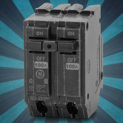 THQL21100-GE Plug-In Molded Case Circuit Breaker 2POLE 100AMP THQL 1PHASE