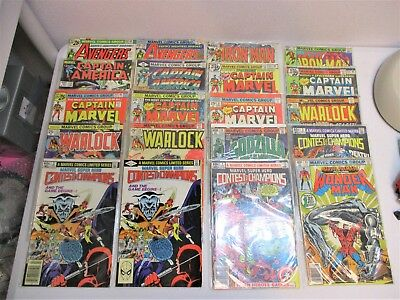 19 Vintage Marvel Comic Books Lot Avengers Captain America