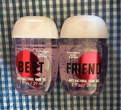 2 X Bath and Body Works Pocketbacs Antibacterial Hand Gel. BEST & FRIEND 29ml