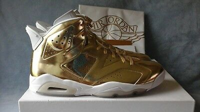 5fac0fc44437a2 NIKE AIR JORDAN 6 Retro Pinnacle Metallic Gold 854271-730 Size 14 ...
