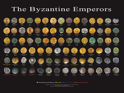 """24x18"""" POSTER OF ALL BYZANTINE EMPERORS"""