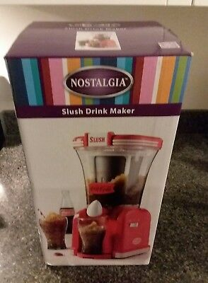 Nostalgia COCA-COLA Frozen Drink Machine 32 Ounce Slush Maker Ice Snow BRAND NEW
