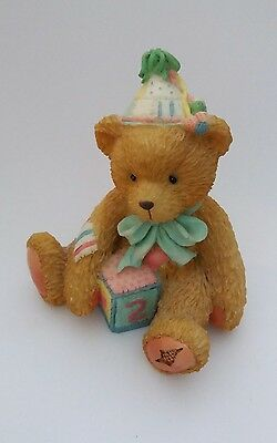Cherished Teddies Two Sweet Two Bear Age 2 Birthday Teddy Figurine 911321