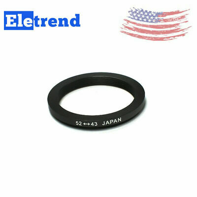 52 to 43mm 52-43mm Male-Famale Step-Down Lens Filter Hood Cover Ring Adapter US