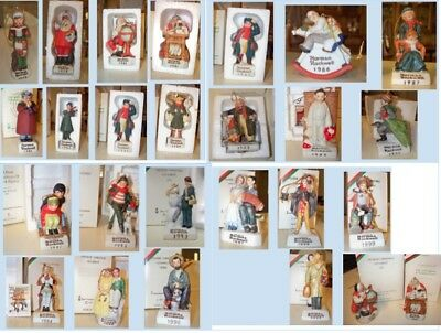 1978 - 2000 + 4 (27)  Norman Rockwell Dave Grossman by date Christmas Ornaments