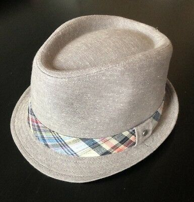 All American Stetson Fedora Hat Gray Plaid Pink Blue Men s Small Medium 🐎  Derby f508bd51262