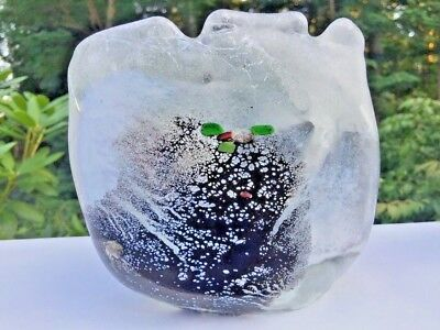 Vintage Signed VERNON BREJCHA Studio Art Glass Hand Blown Carolina Matrix Bowl