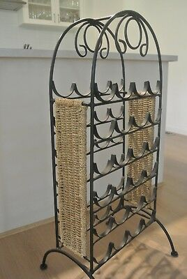 wine rack  wrought iiron  holds 24 bottles