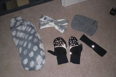 Lot of Lululemon Scarf, 3 Headbands and 1 pair of Gloves