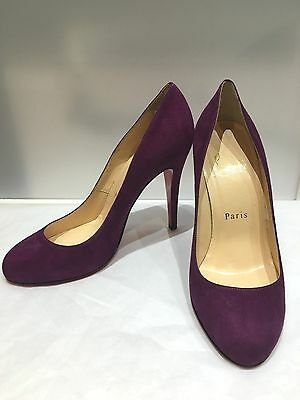 100% authentic 6fa45 f0485 100% authentic Christian Louboutin Ron Ron 100mm suede Royal heels, size  36.5