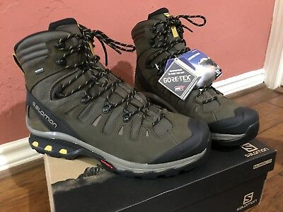 SALOMON Quest 4D GTX Men's Hiking Boots, GreenBlack, UK13