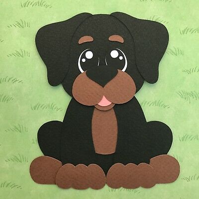 Rottweiler - fully assembled paper piecing / die cut
