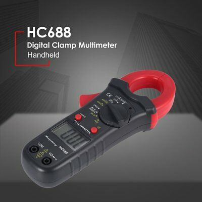 HC688 Digital Clamp Meter Multimeter AC/DC Volt Amp Ohm NCV Tester 1999 Count GT