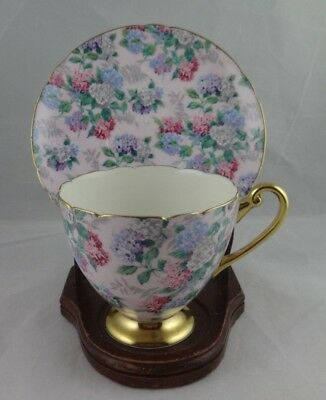 VINTAGE Shelley Chintz Hydrangea Summer Glory Tea Cup and Saucer Set, England