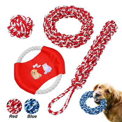 Tough Large Dog Toys Rope Braided Heavy Toys for Medium Big Dogs Red Blue