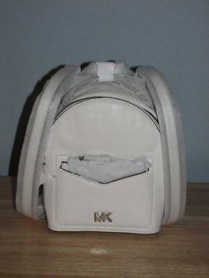 44a2ad75af07 Michael Kors Jessa Extra Small Convertible Pebbled Leather Backpack White  Silver