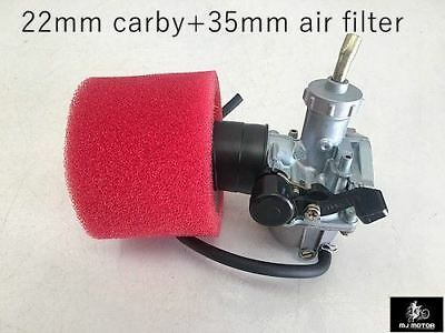 22mm Carby Carburetor + Foam Air Filter 110cc 125cc PIT Quad Dirt Bike ATV Buggy