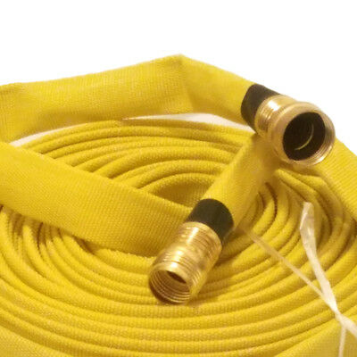 MULTIPURPOSE FIRE HOSE, 3/4IN.X 50 FT. Garden Thread, YELLOW, 250 PSI
