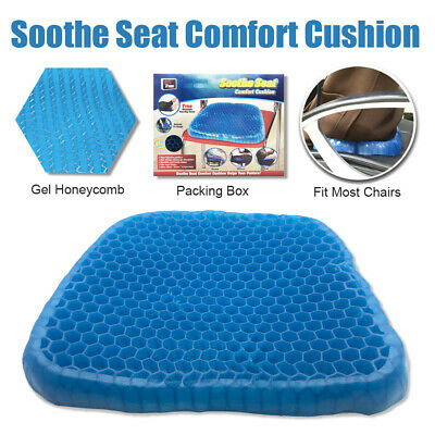 Seat Cushion Gel Honeycomb Flex Back Support AS SEEN ON TV Spine Protector