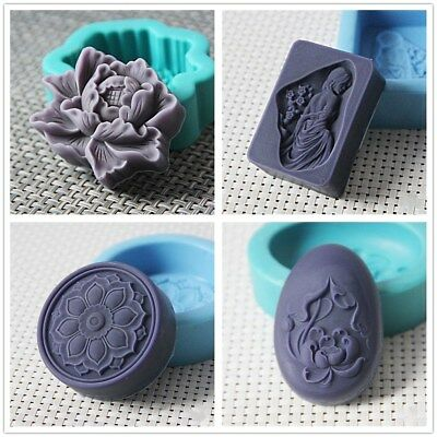 Silicone Soap Mold Bird Flower Dragon Shaped DIY Craft Handmade Soap Mould