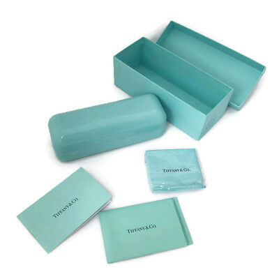 fc94b51e7192 Authentic TIFFANY   CO Turquoise Hard Shell Glasses Case NIB with  accessories