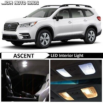17x White Interior Map Dome LED Lights Bulbs Package Kit Fits Subaru Ascent 2019
