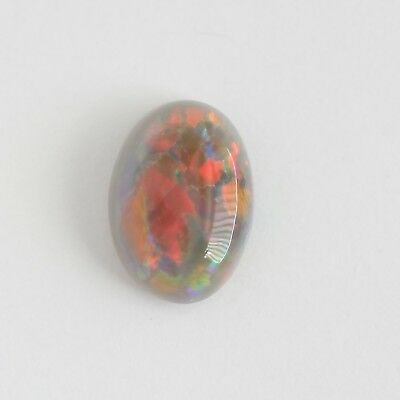 Solid Semi Black Opal 0.80Ct 7.7X5.5 Lightning Ridge Australia  Natural Stone