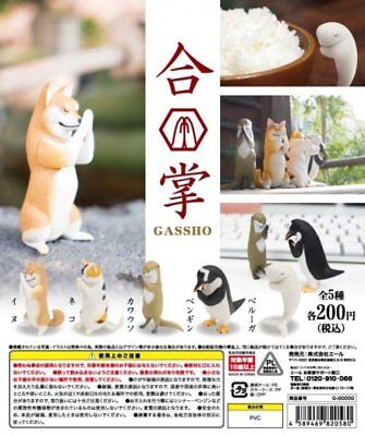 Yell Capsule Animal GASSHO Tier Beten Praying Spielzeug P1 Completed Set 5pcs