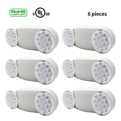 LED Emergency Light Two Head Rechargeable Home Blackout Power Failure Safety