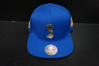 66057f440cf36 GOLDEN STATE WARRIORS Mitchell and Ness Snapback Hat Metal Emblem ...