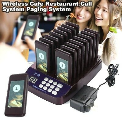 System Wireless Restaurant Pagers Restaurant Calling Coffee Pager 5E001F6