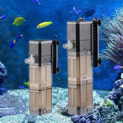 Aquarium Pump Filter Aerator Submersible Multifunction Wave Maker Circulation