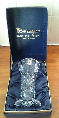 Buckingham Hand Cut Crystal Vase