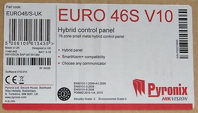 Pyronix EURO 46S V10 Small Hybrid Grade 2 Security Control Panel - EURO46/S-UK